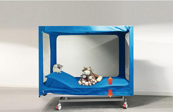 lit enfant adapté pour fauteuil roulant
